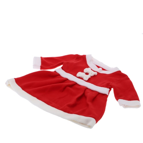 Cute High Quality Soft Red and White Little Girl Christmas Hat and Dress for Christmas Day Performance Costume