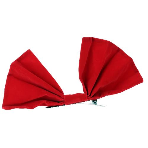 Linda dulce Navidad hermosa Bowknot cabello Clip Horquilla para artículos de decoración decoración