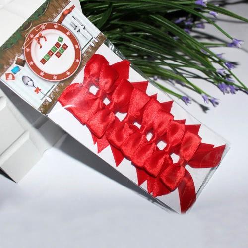 Nouveau Style Mini Bowknot Ornements de la Vaisselle de Noël Décoration de Noël 8Pcs / LOT