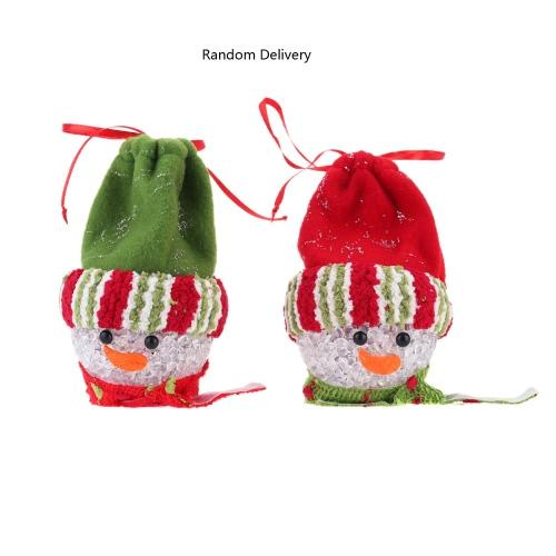 Hot Sale New Style Christmas Hanging Pieces LED Light Candy Bag EVA Ball Christmas Ornament XMAS Tree Decoration