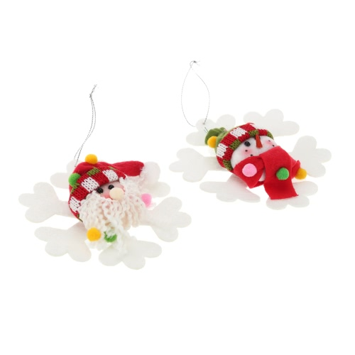 Hot Sale New Style Christmas Products Oldman Snowman Hanging Pieces Christmas Ornament XMAS Tree Decoration 2pcs