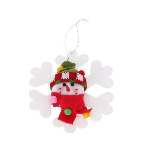 TOMTOP / Hot Sale New Style Christmas Products Oldman Snowman Hanging Pieces Christmas Ornament XMAS Tree Decoration 2pcs