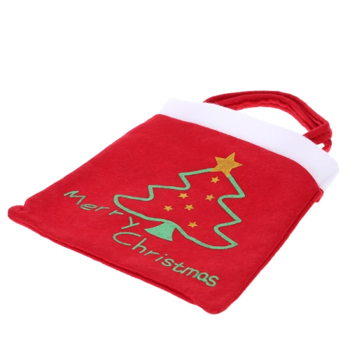 Cute Christmas Tree Pattern Gifts Candies Bag Pocket Festival Decoration Decor Supplies