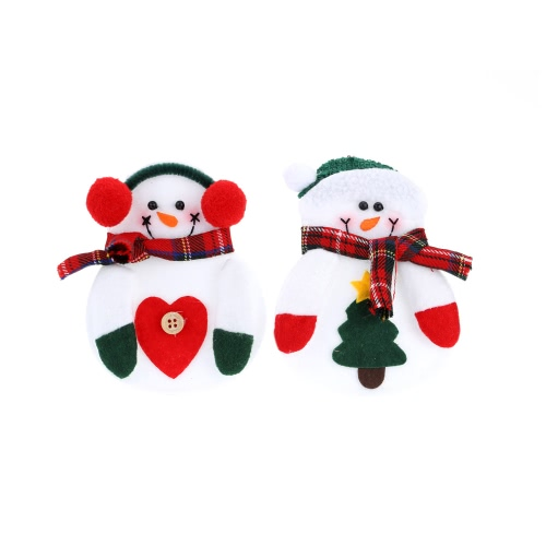 2PCS Christmas Silverware Holder Kieszenie Santa Tree Wiszące Dekoracje