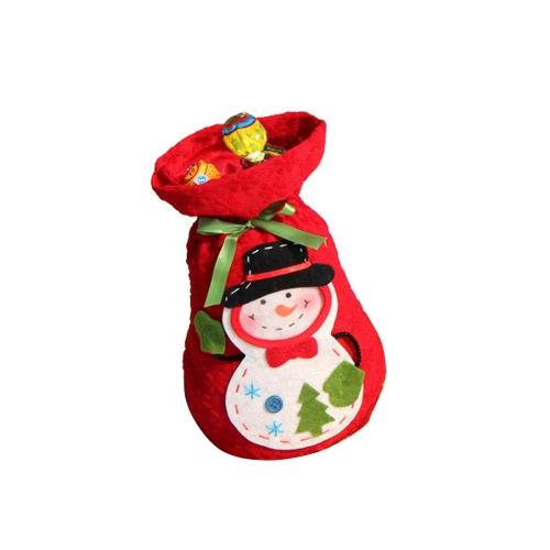 Sac de Cadeau du Père Noël Sac d'Offre du Motif de Bonhomme de Neige Chaussettes des Bonbons d'offre de Noël Fourniture de Noël