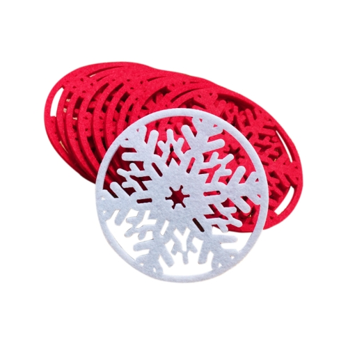 10 PCS Cup Pad Cute Snowflake Insulation Mat Light Weight Heat Pad Adorable Christmas Product