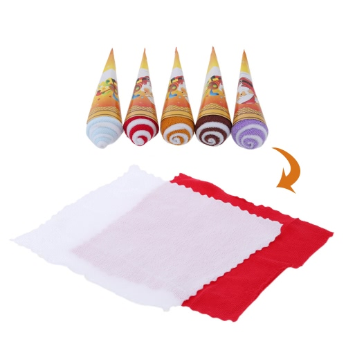 Christmas Ice Cream Shaped Towel Soft and Cute Two-tone Originality Towel Great Gift for Return a Salute at Wedding