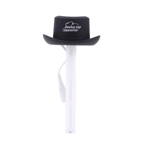 USB Mini Portable Cowboy Cap Humidifier DC 5V Office Air Diffuser Mist Maker with 2pcs Absorbent Filter Sticks