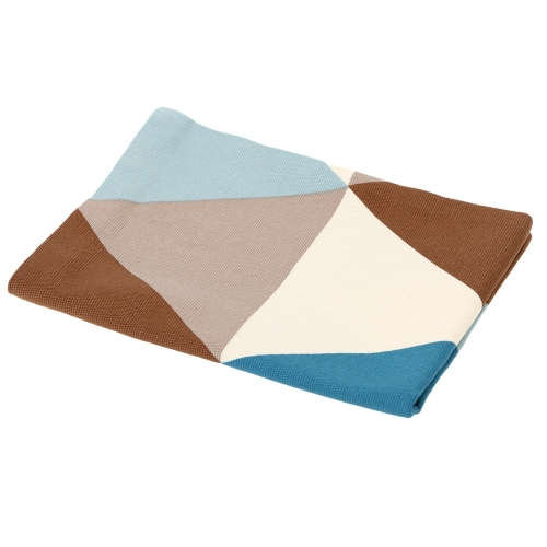 Moderne Napperon du Motif Triangle Géométrique en Coton Pad Antidérapant pour Vaisselle Assiette Bol Napperon de Tissage d'Isolation Thermique