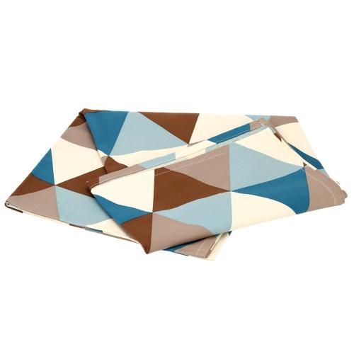 Moderne Nappe du Motif de Triangle Géométrique en Coton 180 * 140cm Ménagère Couverture de Table à Dîner