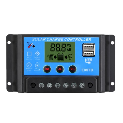 Anself Solar Charge Controller with LCD Display