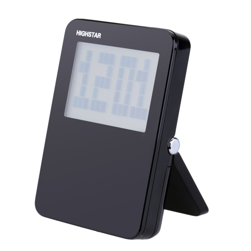 Mini Portable Digital Clock with Temperature Date Time Display Good Multifunctional LCD Alarm Clock for Traveling Business Trip