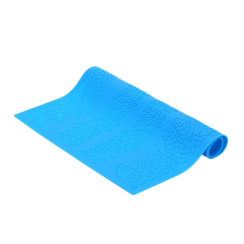 38.5*28.5cm Blue Silicone Fondant Cakes Beautiful Pattern Decorating Baking Mold DIY Cake Decoration Kitchen Tool