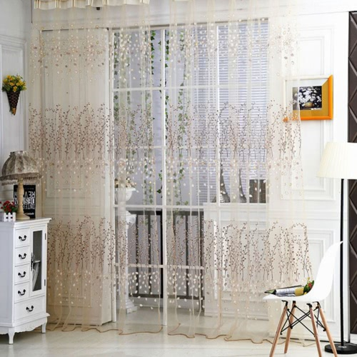 Wintersweet Pattern Half Shading Curtain