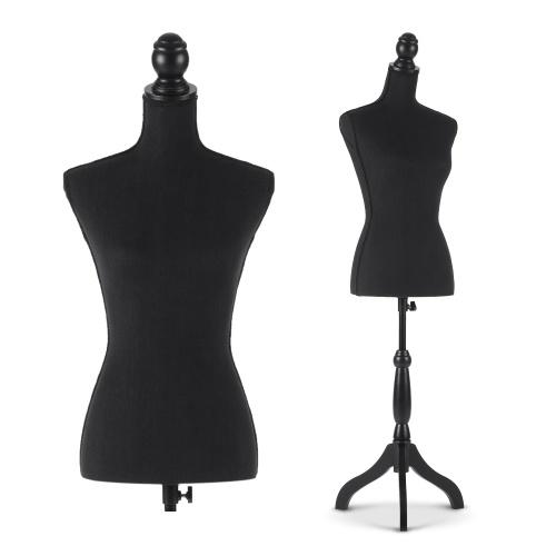 """Forma de vestido de torso maniquí femenino iKayaa de segunda mano con trípode de madera tamaño pinnable 34 """"26"""" 35 """""""