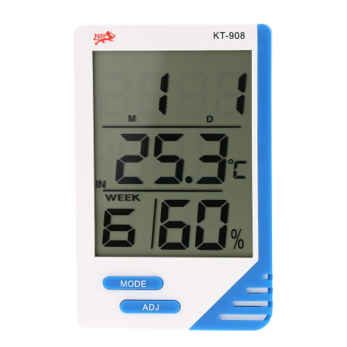 Temperature Humidity Tester Thermometer Hygrometer Clock