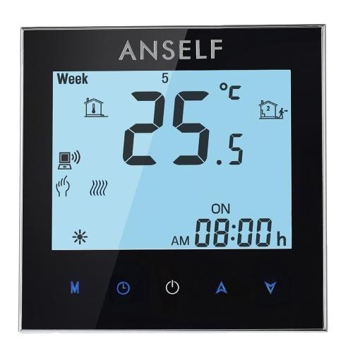 Seconda mano Anself 16A 110 ~ 240V Riscaldamento elettrico Risparmio energetico WIFI Termostato intelligente con display LCD touchscreen Programmatore di temperatura programmabile durevole Buona qualità Prodotto per la casa Prodotto