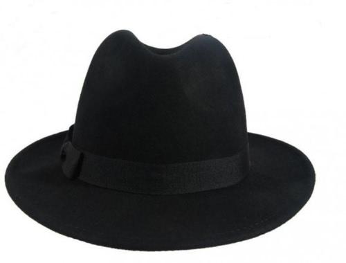 Fashion Unisex Men Women Fedora Hat Floppy Derby Trilby Cap Headwear Black