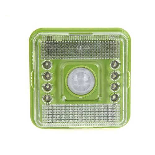 8 LED Light Lamp PIR Auto Sensor Motion Detector Green