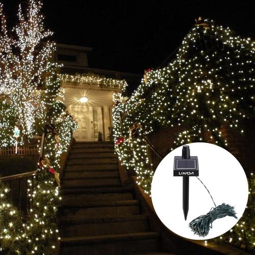 17M 100 LED Solar Outdoor Garden Lamp White Fairy String Light for Party Wedding Christmas Home Room Decor Gift