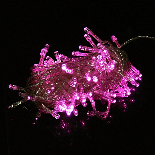 220-250V 100 LEDs 10m String-Licht für Weihnachtsfest Hochzeit Pink