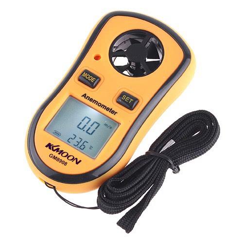 Digital Poche Anémomètre et Appareil de Vitesse du Vent Thermomètre