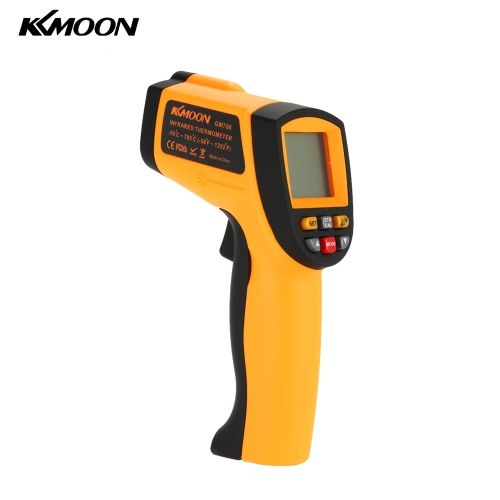 KKmoon Non-Contact Laser IR Thermomètre Digital -50℃-700℃  w/Alarme & MAX/MIN/AVG/DIF