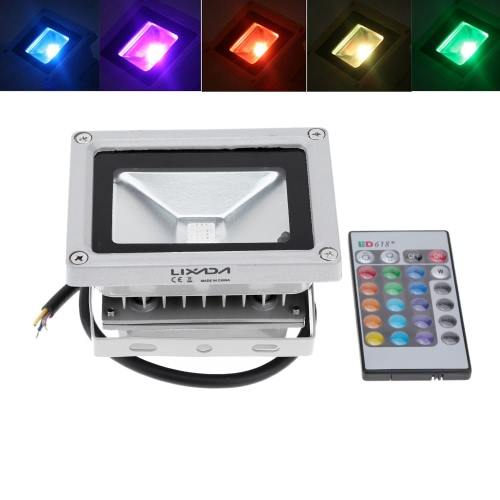 Lixada 10W RGB LED Flood Light
