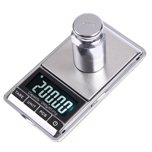 KKmoon Mini Digital Scale 200g*0.01g Mini Digital Jewelry Pocket Scale Gram Oz Ct
