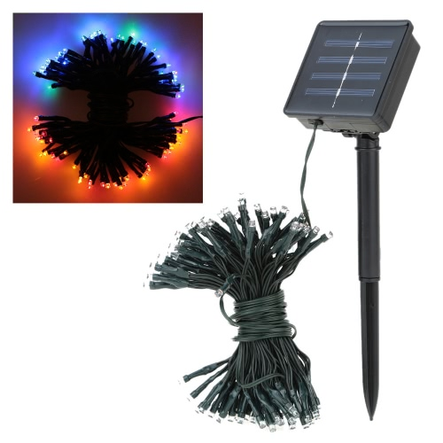 17m 100 Solar LED de fiesta de colores Luz LED festivo de secuencia de la Navidad