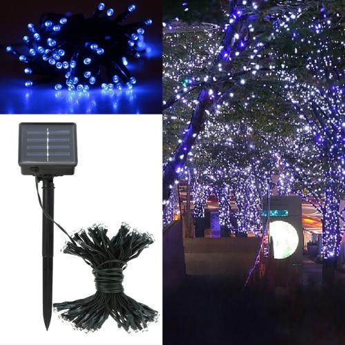 Luce solare LED blu stringa
