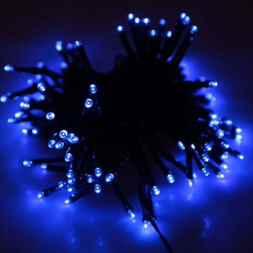 Blue Solar LED String Light