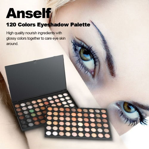 Anself Professional 120 Color Eyeshadow Palette Neutral Warm Eye Shadow Cosmetic Concealer Makeup Kit
