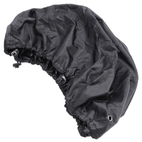 Cubierta de mochila Resistente a la lluvia del bolso impermeable 15-35L S de aire libre Negro