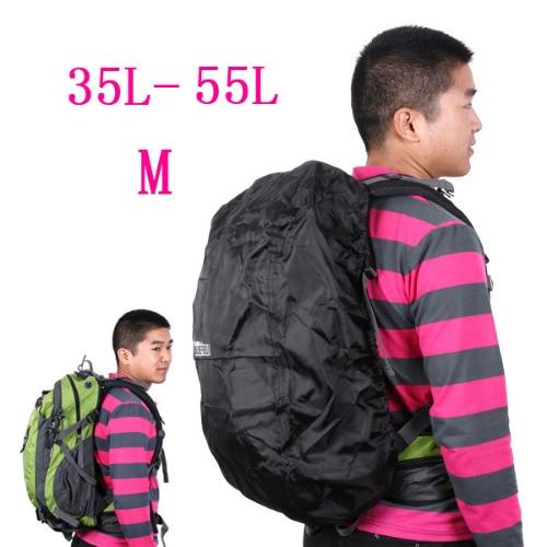 Regenabdeckung mittlere schwarz 35-55L