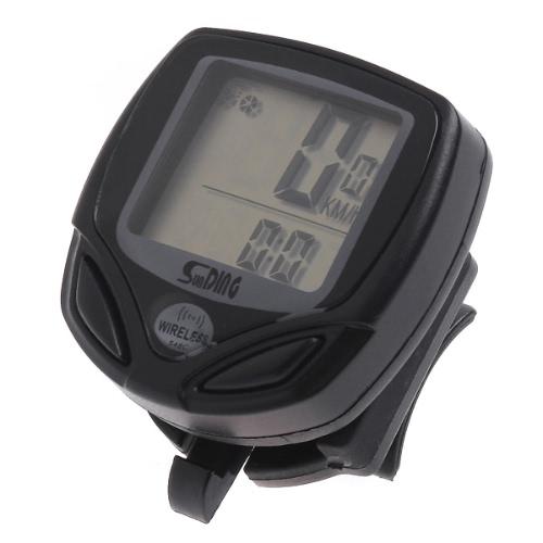 Negro LCD Wireless computadora del ciclo de la bicicleta medidor velocímetro cuentakilómetros