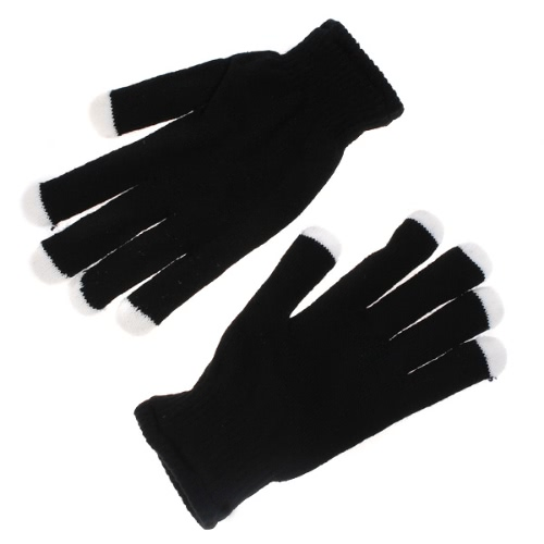 Illuminazione lampeggiante guanti nero
