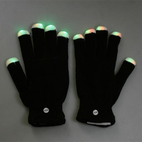 Lighting Flashing Gloves Black