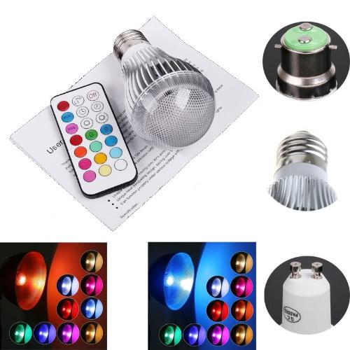 Светодиодная лампа RGB 9W B22
