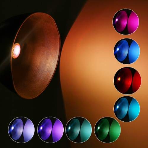 Kolorowe RGB LED 9W Żarówka B22