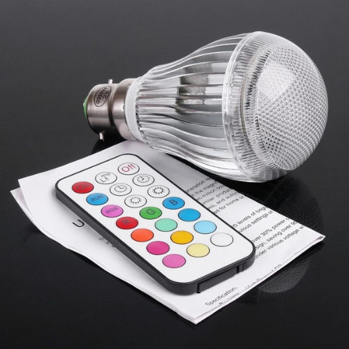 LED RGB 9W B22 Light Bulb
