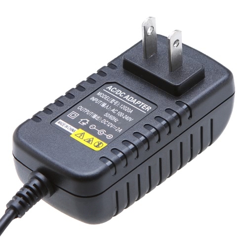 AC 100-240V to DC 12V 2A Power Supply Charger Adapter Transformer for LED Strip Light 24W Device