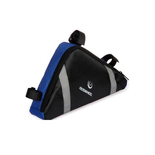 Roswheel bicicletta bici borsa telaio anteriore testa tubo triangolo Bag Storage Pouch 12490 blu