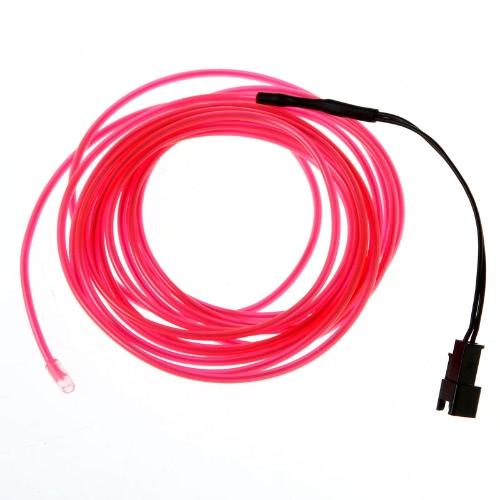 3M розовый гибкий Неон светло-Эль-трос трубка с контроллером