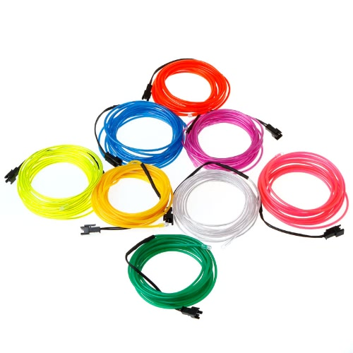 3M Orange Flexible Neon Light EL Wire Rope Tube with Controller