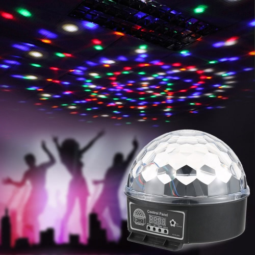 LED RGB Digital Crystal Magic Ball Lichteffekt DMX 512 Disco DJ Stage Lighting