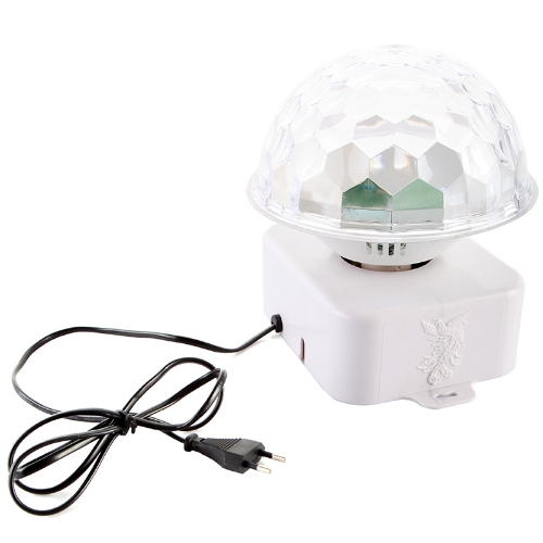 Sound-activate Rotating LED RGB Crystal Magic Ball Effect Light Disco DJ Stage Lighting