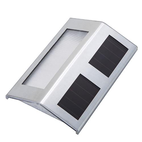 Solar Power Light for Stairway Corridor Path Garden Fence Wall 2 LED