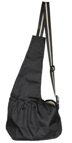 Anself Pet Carrier Bag Oxford Cloth Dog Cat Carrier Single Shoulder Bag  Black