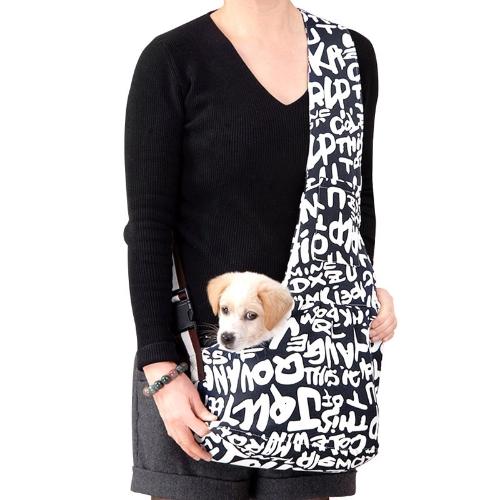 Pet Carrier Bag Oxford Cloth Dog Cat Carrier Single Shoulder Bag  Blue